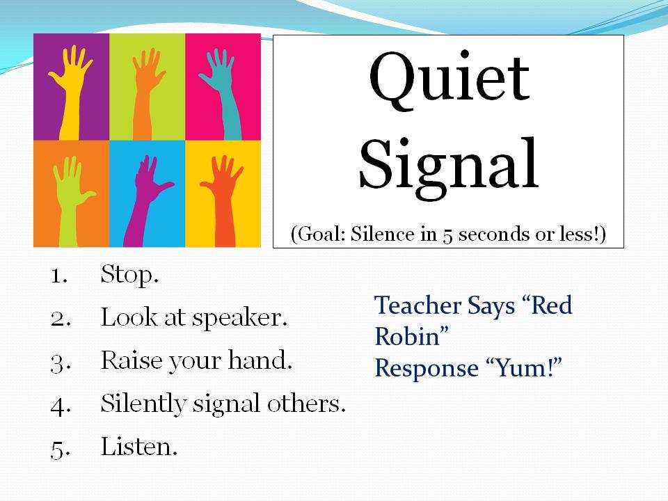"Teacher Says ""Red Robin"" Response ""Yum!"""
