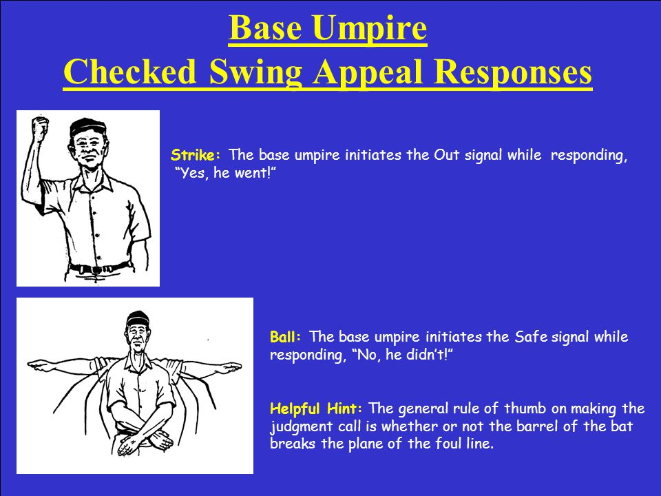 Base Umpire Ground Rule Double Signal Ground Rule Double: On a ground rule double the base umpire should first make the ball dead by initiating the Time signal and call.