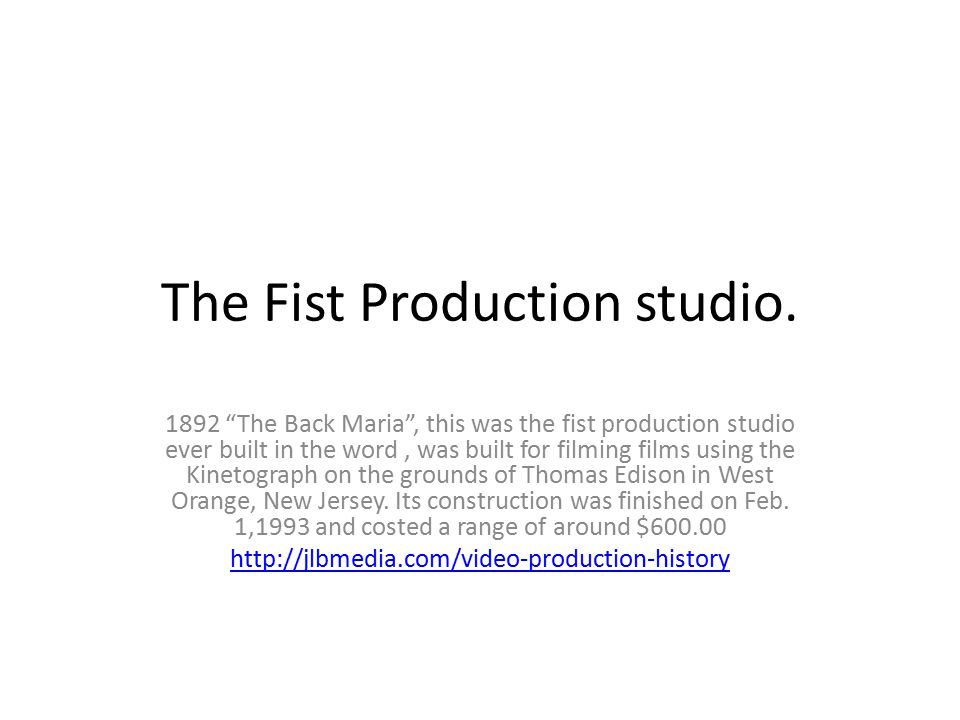 """The Fist Production studio. 1892 """"The Back Maria"""", this was the fist production studio ever built in the word, was built for filming films using the K"""