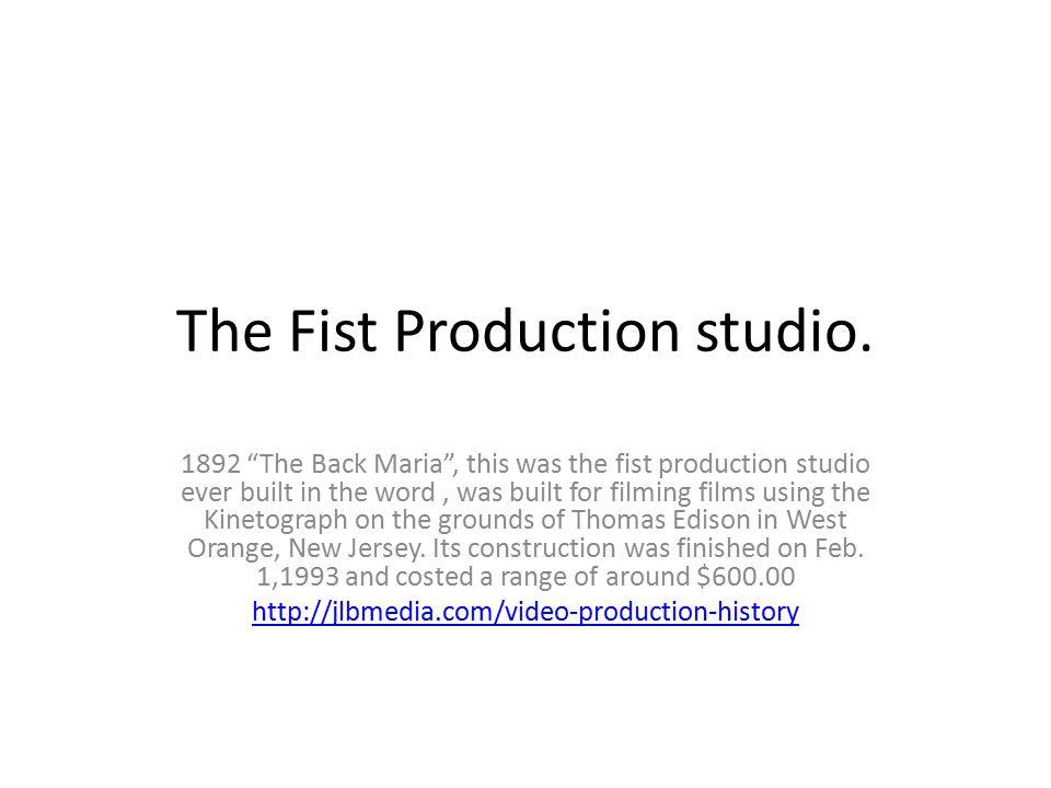 The Fist Production studio.