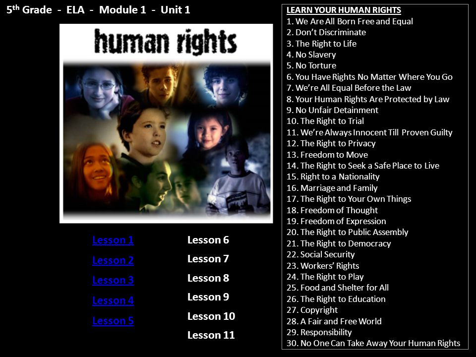 LEARN YOUR HUMAN RIGHTS 1.We Are All Born Free and Equal 2.