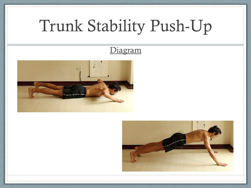 Trunk Stability Push-Up Diagram