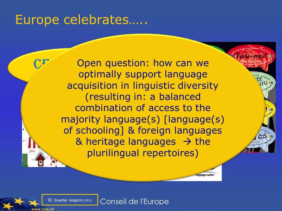Europe celebrates…..