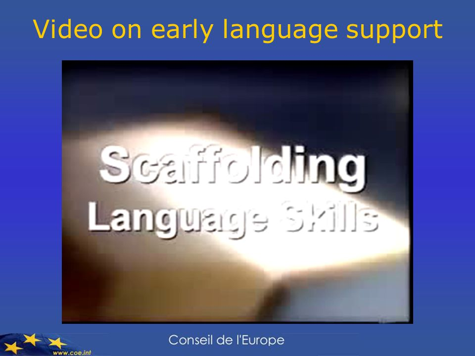 Video on early language support