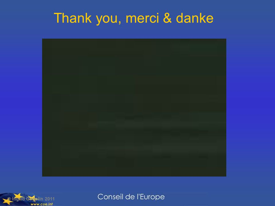 Thank you, merci & danke