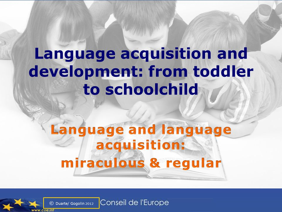 Language acquisition and development: from toddler to schoolchild