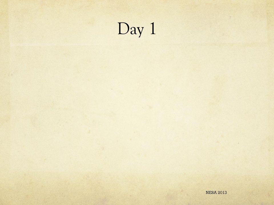 Day 1 NESA 2013