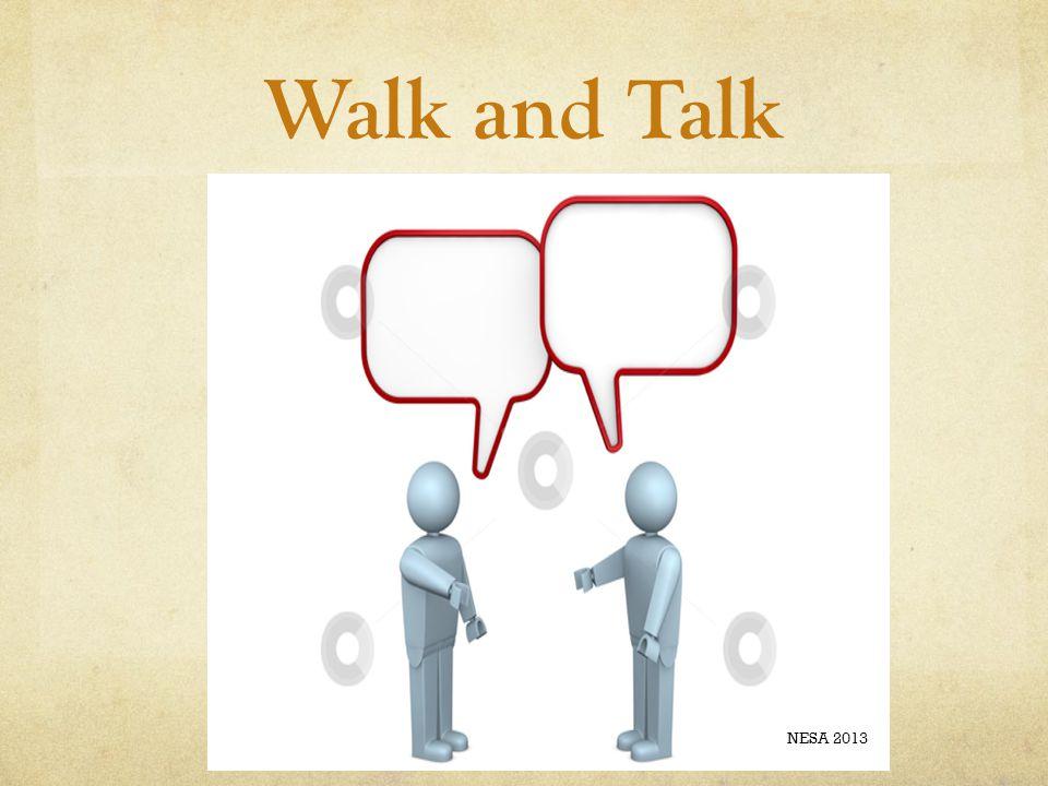 Walk and Talk NESA 2013