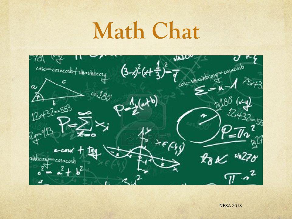 Math Chat NESA 2013