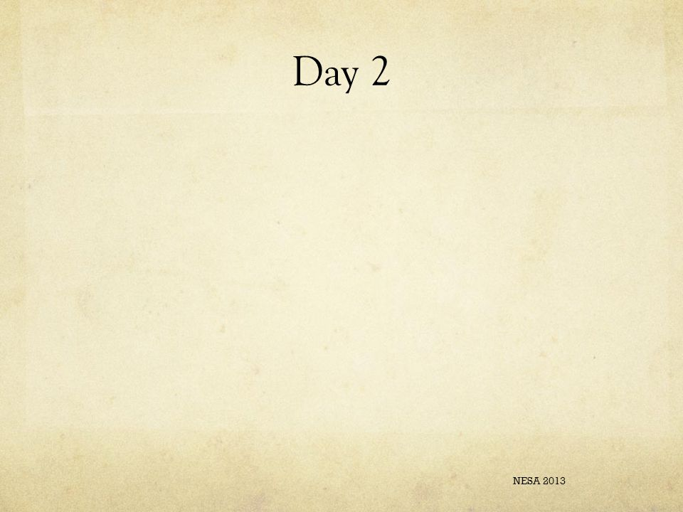 Day 2 NESA 2013
