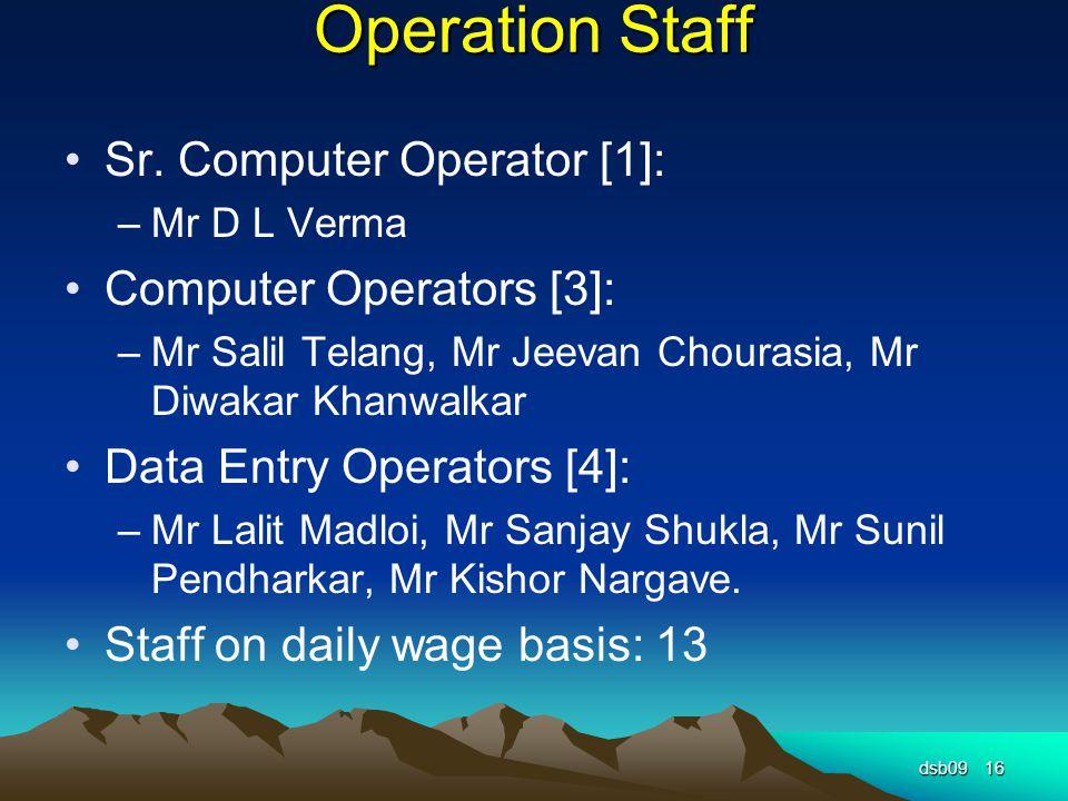 Operation Staff Sr.