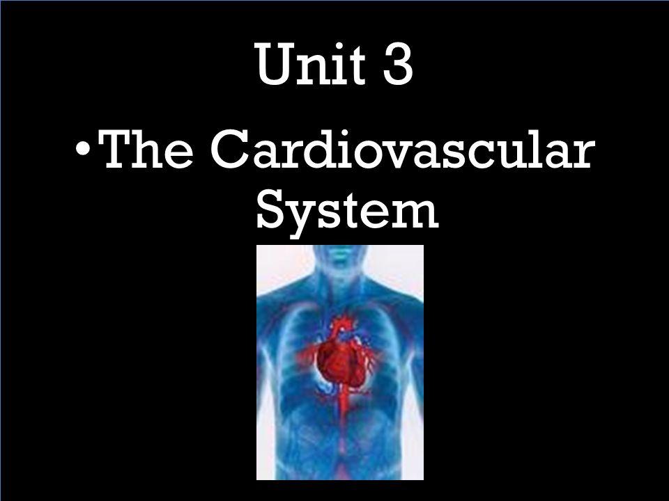 Unit 3 The Cardiovascular System