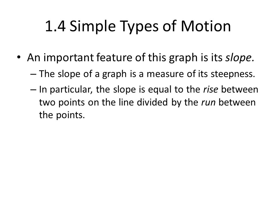 1.4 Simple Types of Motion The figure shows the velocity of a car as it accelerates from 0 to 80 mph.