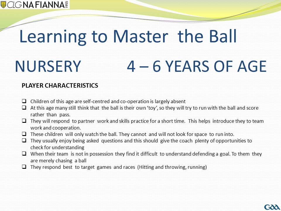 Learning to Master the Ball