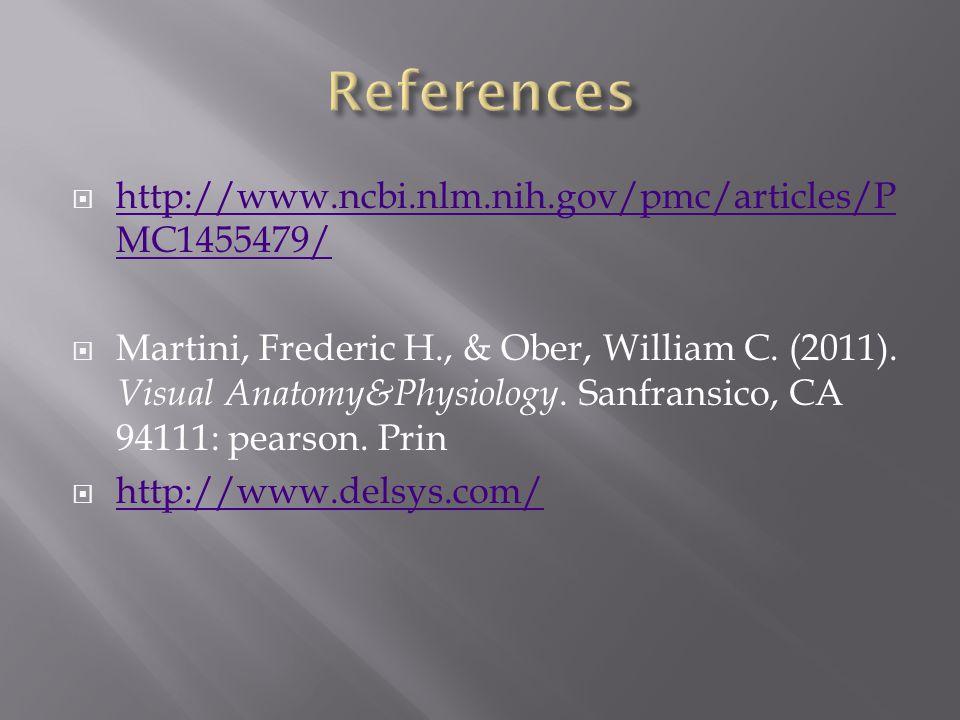  http://www.ncbi.nlm.nih.gov/pmc/articles/P MC1455479/ http://www.ncbi.nlm.nih.gov/pmc/articles/P MC1455479/  Martini, Frederic H., & Ober, William