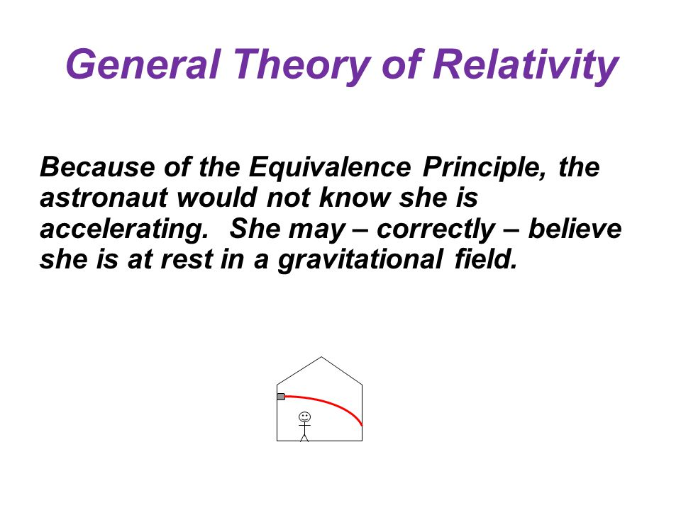 General Theory of Relativity Because of the Equivalence Principle, the astronaut would not know she is accelerating.