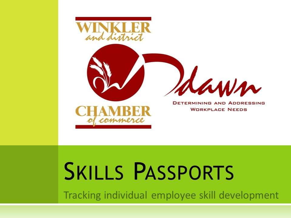 Tracking individual employee skill development S KILLS P ASSPORTS