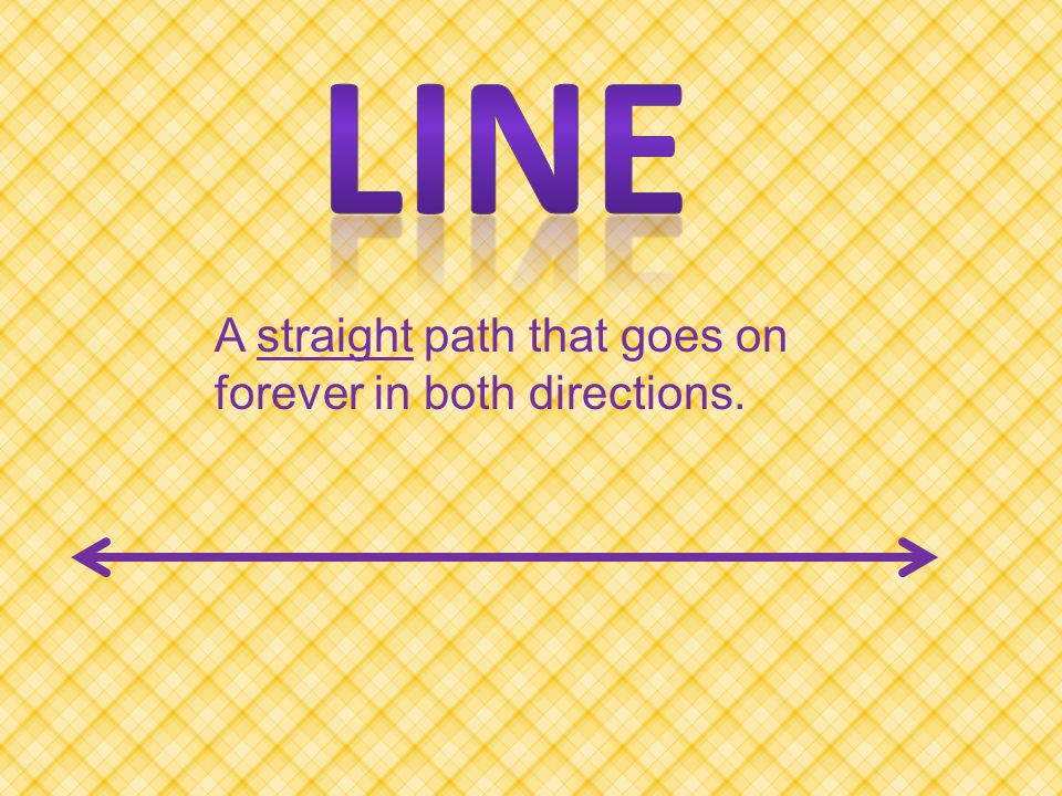 Two lines that cross but do NOT always from right angles.