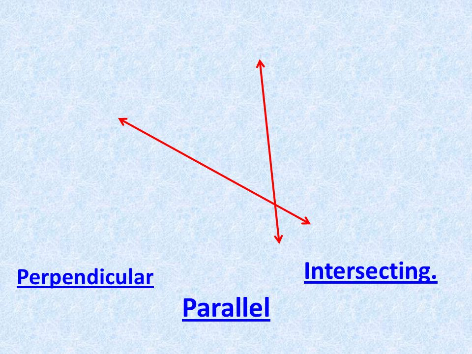 Perpendicular Parallel Intersecting.