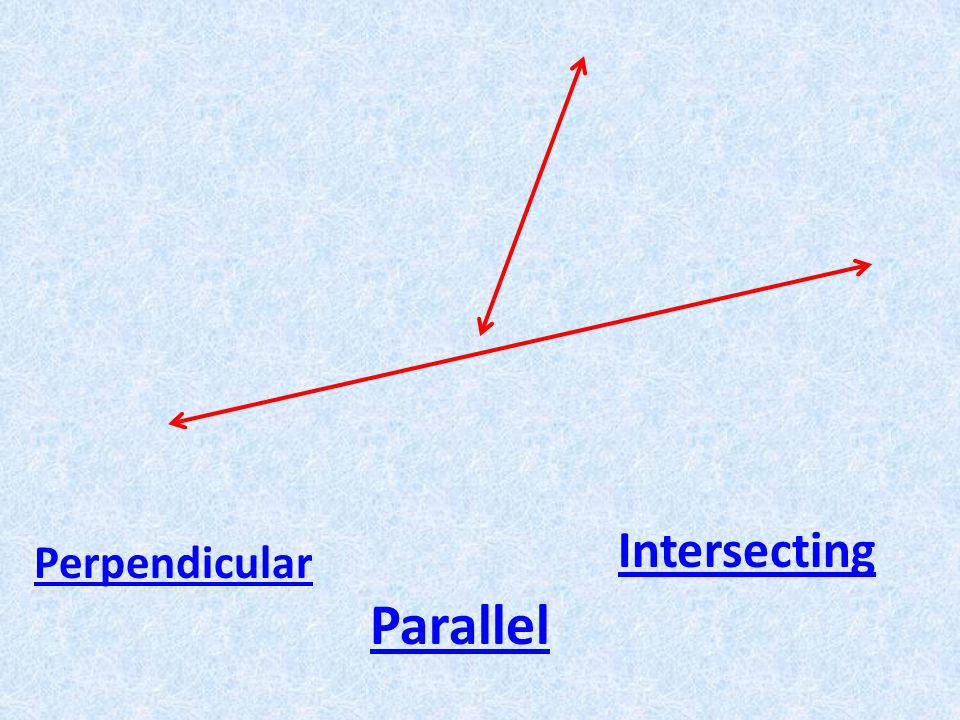 Perpendicular Parallel Intersecting