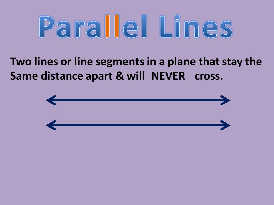 A. Perpendicular B. Parallel C.Intersecting