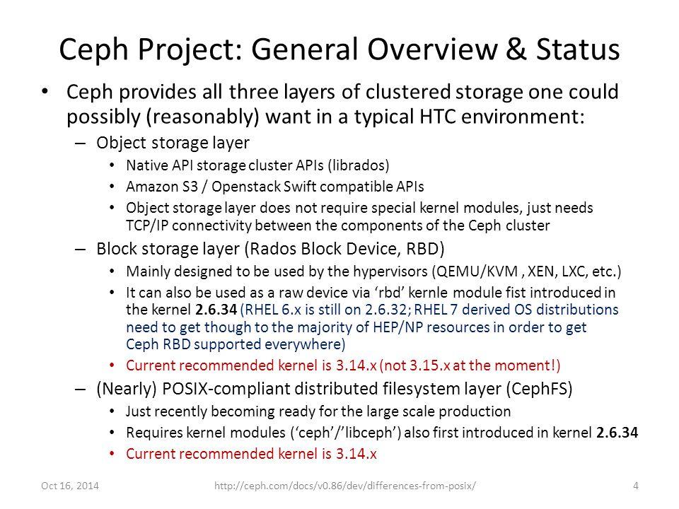 Ceph Architecture: Protocol Stack 5Oct 16, 2014HEPiX Fall 2014 @ Lincoln, Nebraska, Oct 13-17, 2014