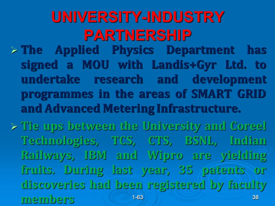 UNIVERSITY-INDUSTRY PARTNERSHIP  The Applied Physics Department has signed a MOU with Landis+Gyr Ltd.