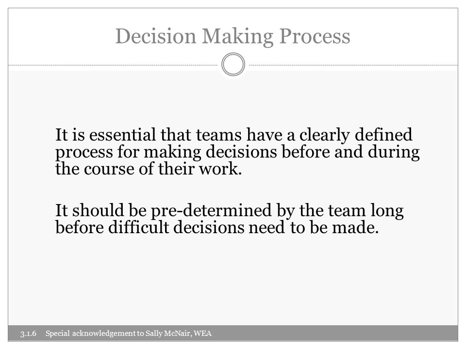 Two Basic Models of Decision Making 1.