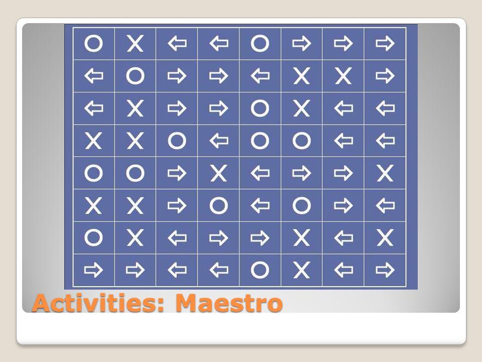 Activities: Maestro