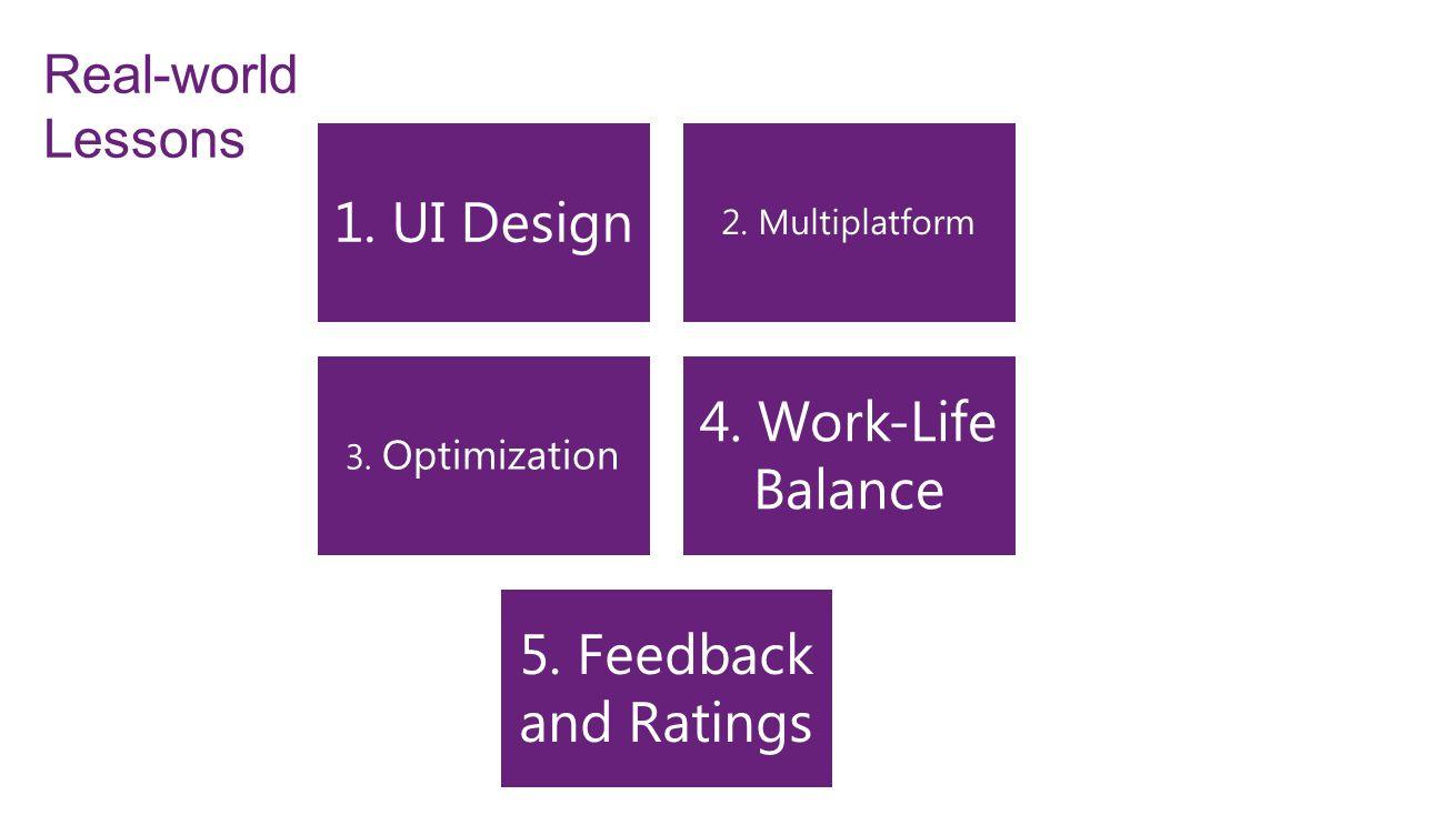 Real-world Lessons 1. UI Design 2. Multiplatform 3.