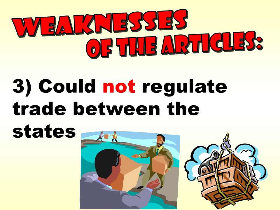 3) Could not regulate trade between the states