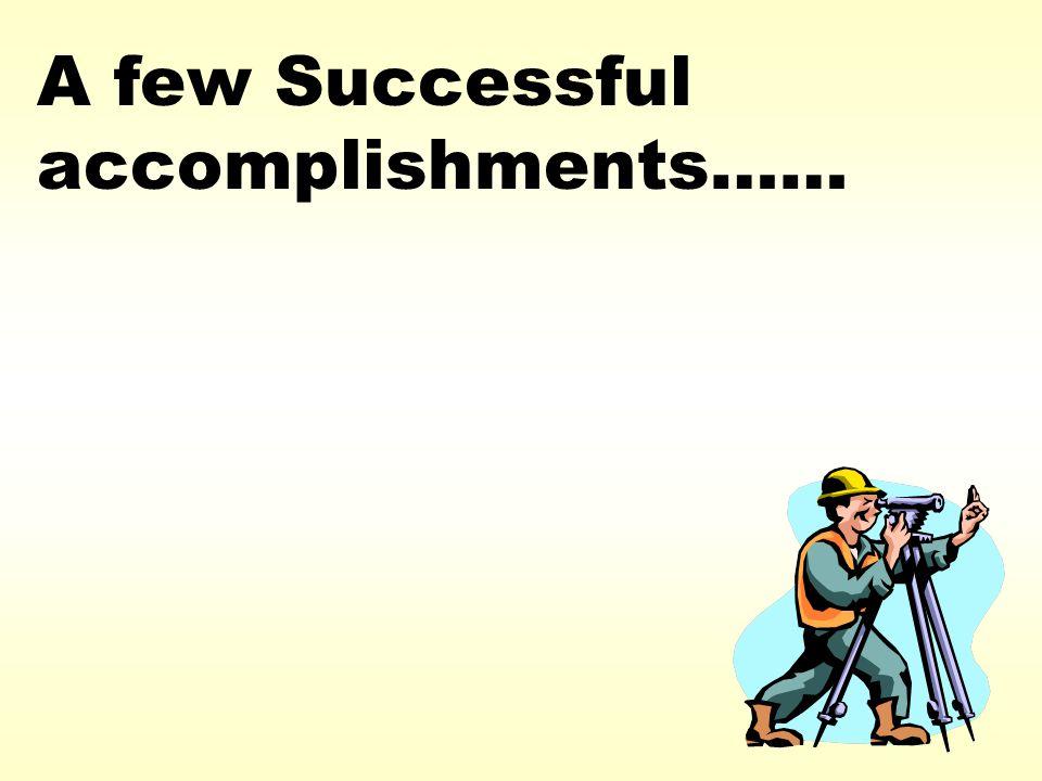 A few Successful accomplishments……