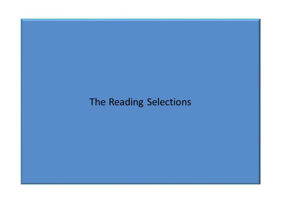 The Reading Selections