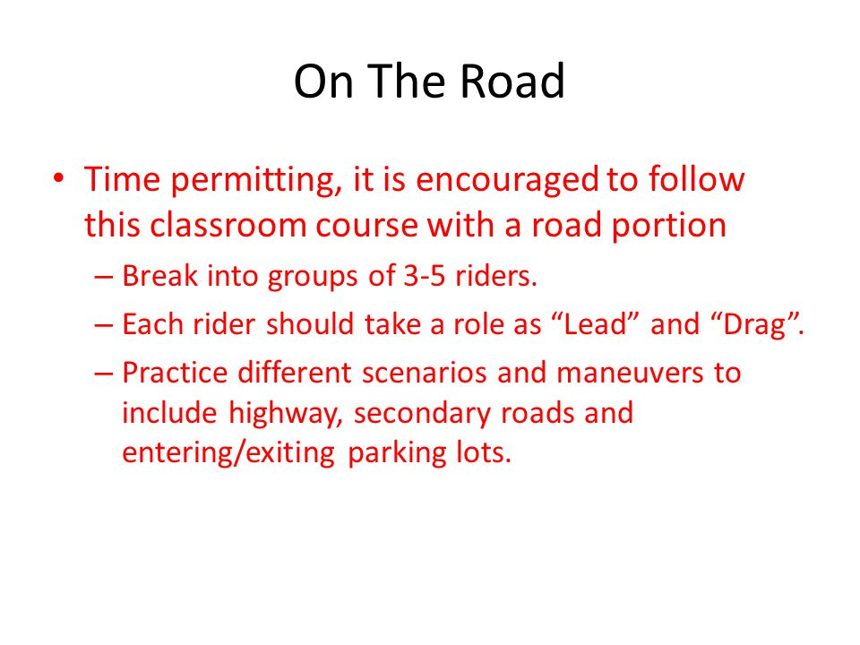 Overview – What is a Road Captain.