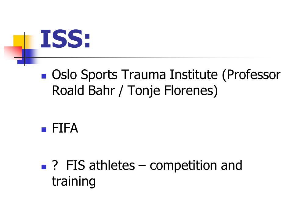 ISS: Oslo Sports Trauma Institute (Professor Roald Bahr / Tonje Florenes) FIFA .