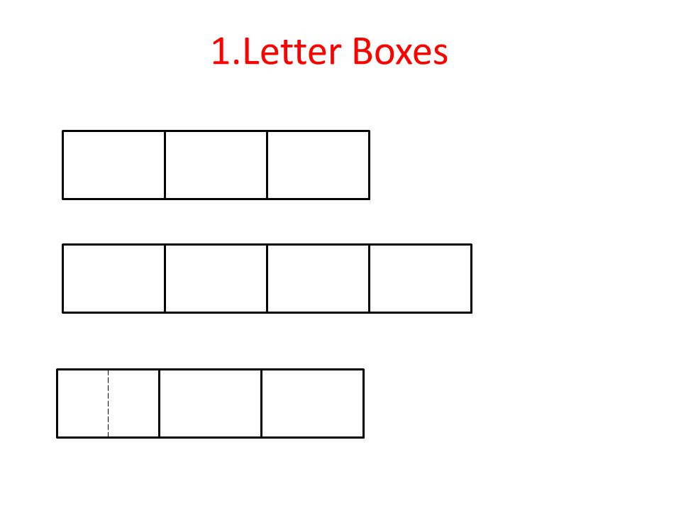 1.Letter Boxes