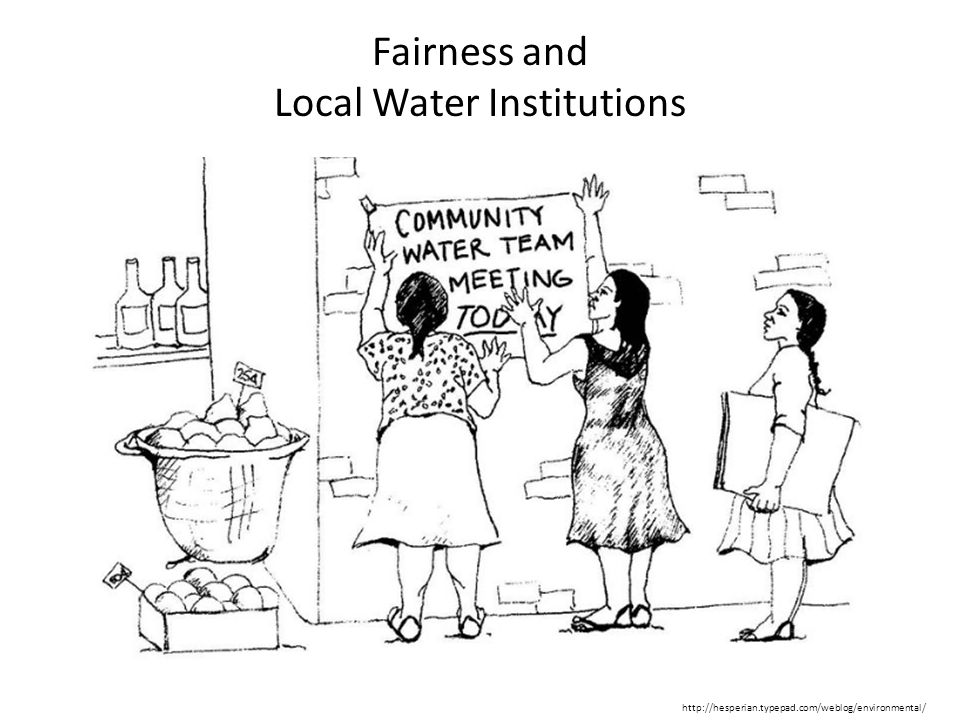 Fairness and Local Water Institutions http://hesperian.typepad.com/weblog/environmental/