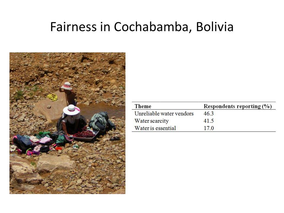 Fairness in Cochabamba, Bolivia