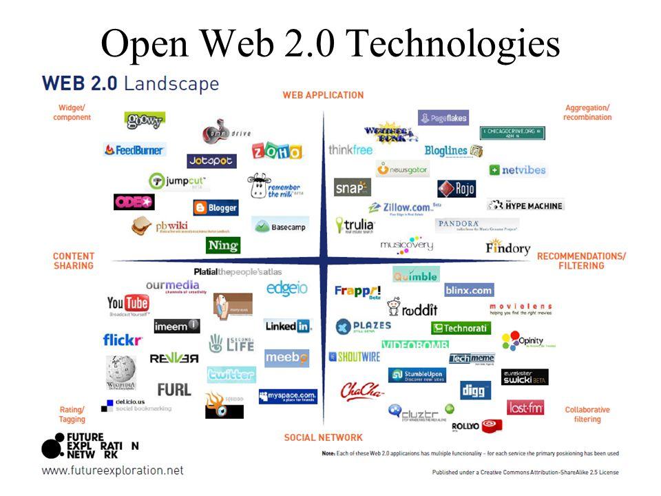 Open Web 2.0 Technologies