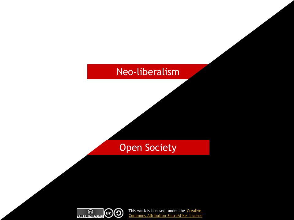 Neo-liberalism Open Society This work is licensed under the CreativeCreative Commons Attribution-ShareAlike License