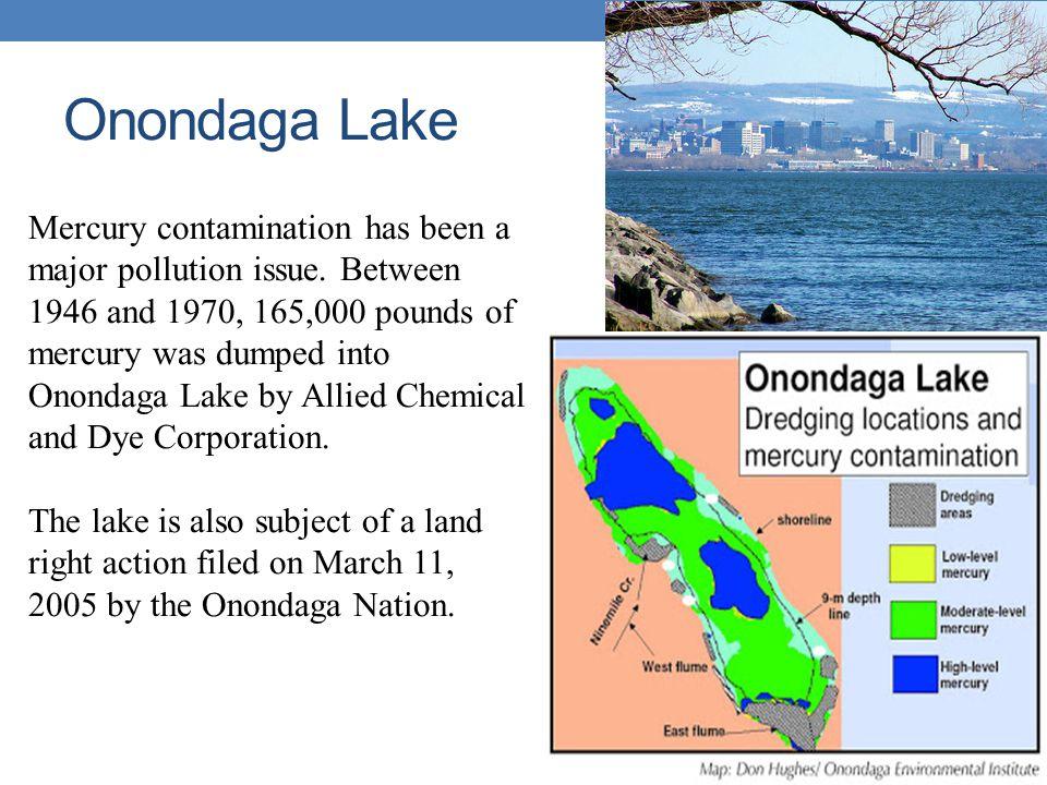 Onondaga Lake Mercury contamination has been a major pollution issue.