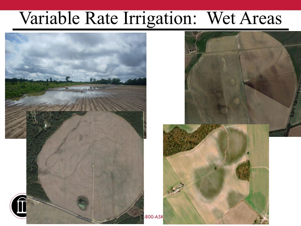 Variable Rate Irrigation: Wet Areas