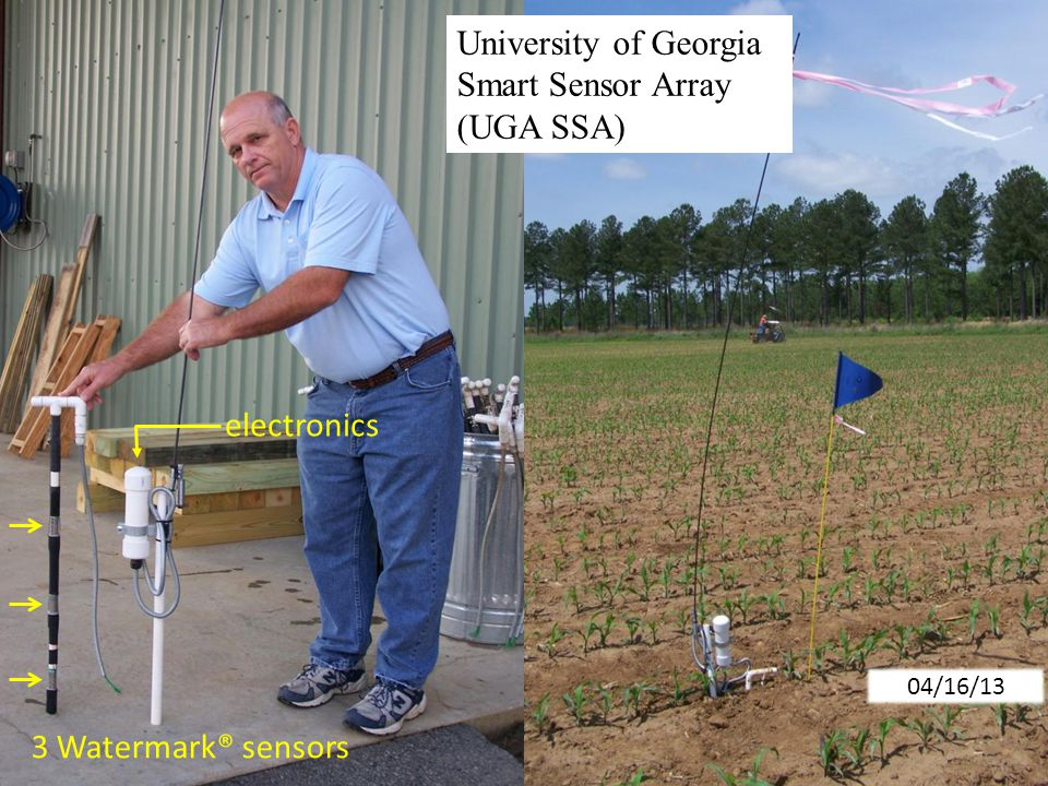 University of Georgia Smart Sensor Array (UGA SSA) 04/16/13 electronics 3 Watermark® sensors