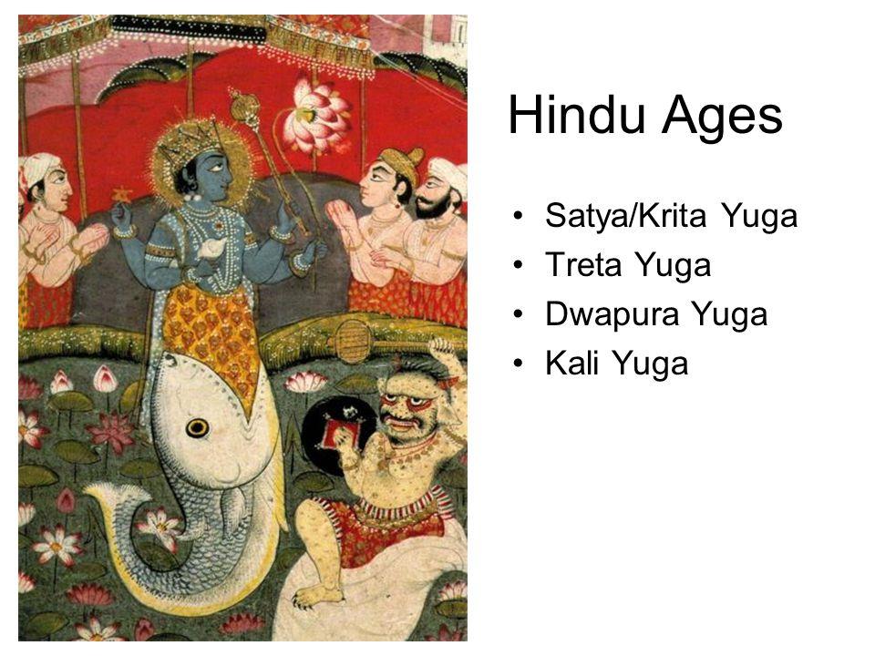 Hindu Ages Satya/Krita Yuga Treta Yuga Dwapura Yuga Kali Yuga