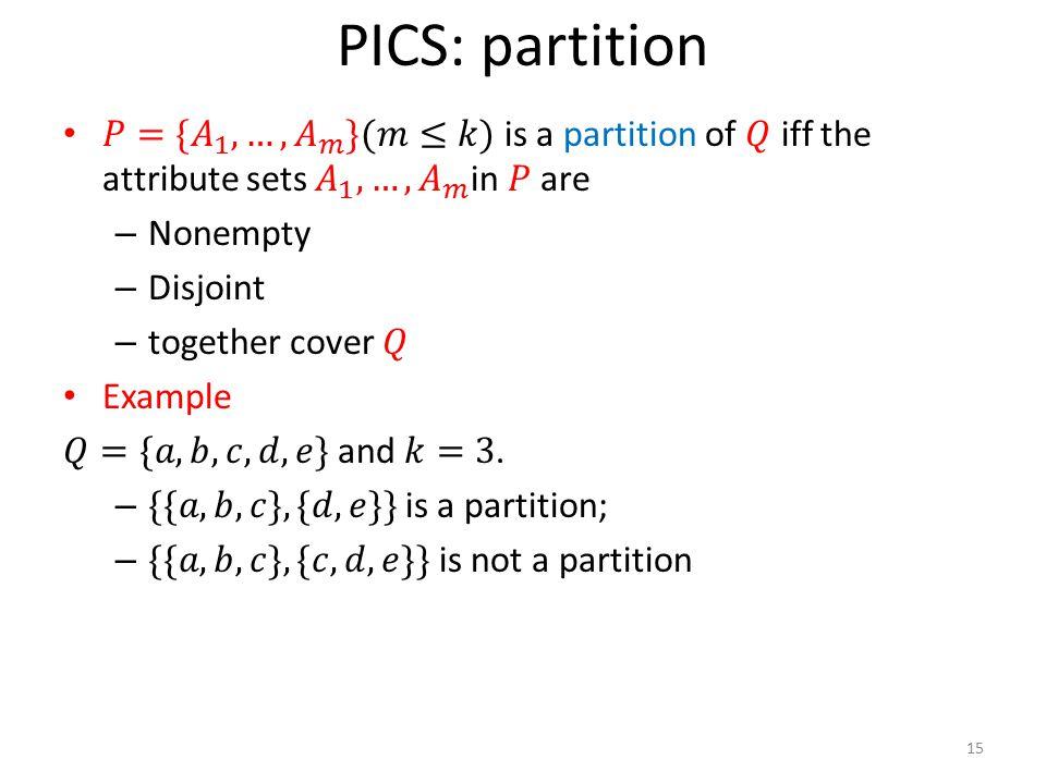 PICS: partition 15