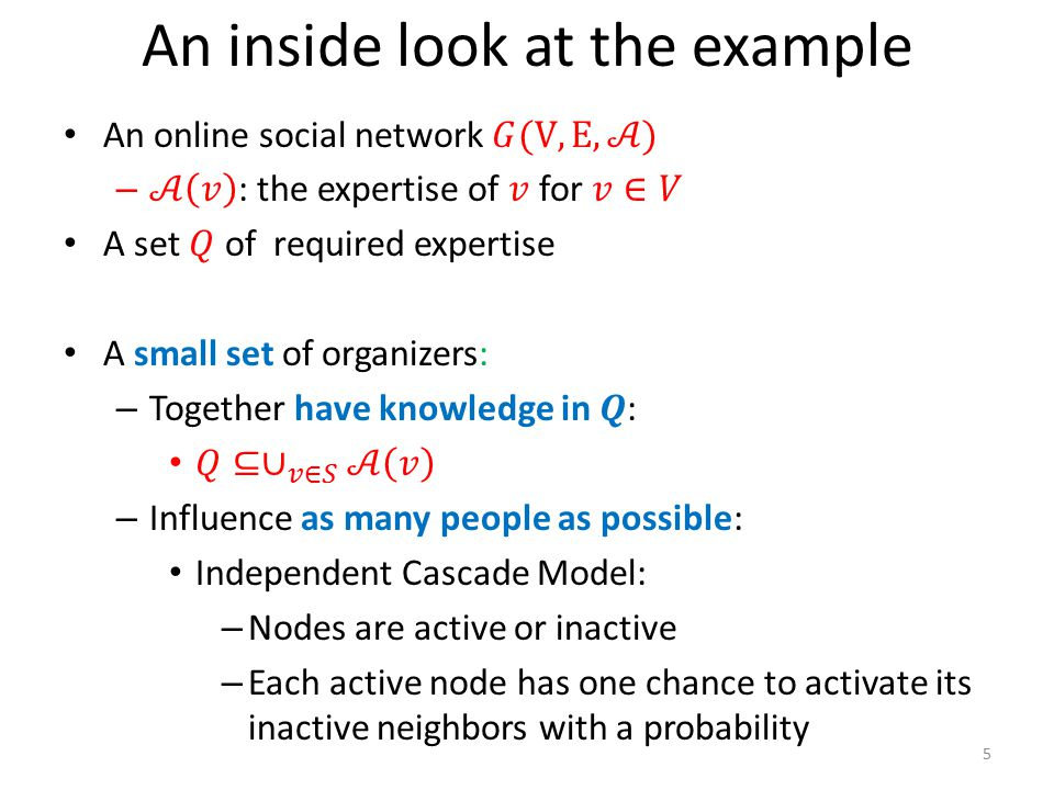 An inside look at the example 5