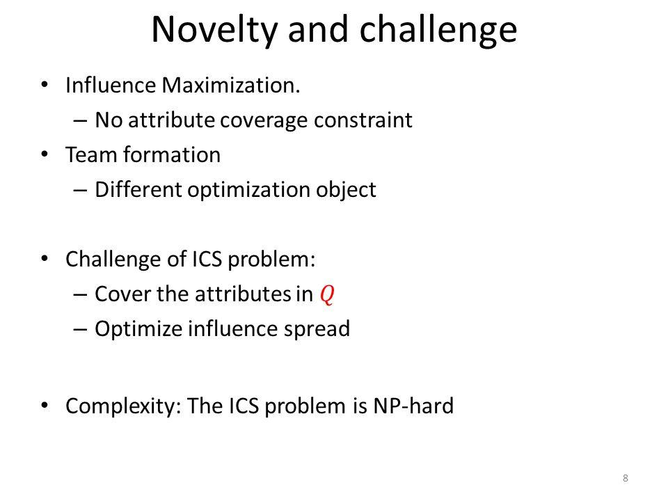 Novelty and challenge 8