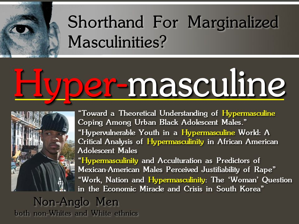 Hyper-masculine Shorthand For Marginalized Masculinities.
