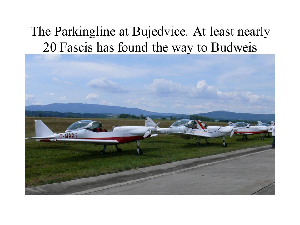 The Parkingline at Bujedvice. At least nearly 20 Fascis has found the way to Budweis