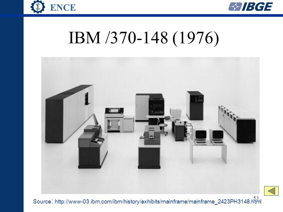 ENCE 53 IBM /370-148 (1976) Source : http://www-03.ibm.com/ibm/history/exhibits/mainframe/mainframe_2423PH3148.html
